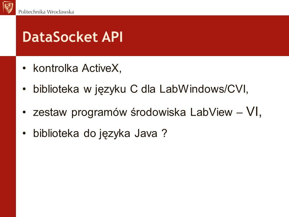 DataSocket API kontrolka ActiveX,