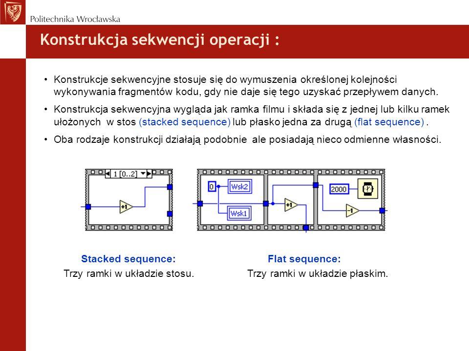 Konstrukcja sekwencji operacji :
