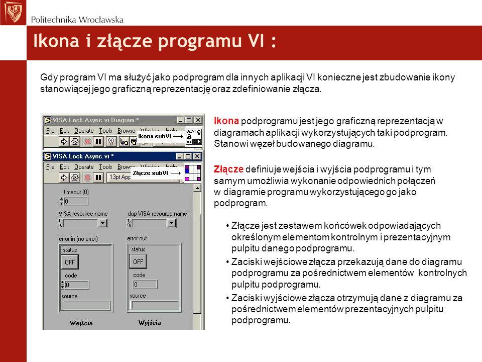 Ikona i złącze programu VI :