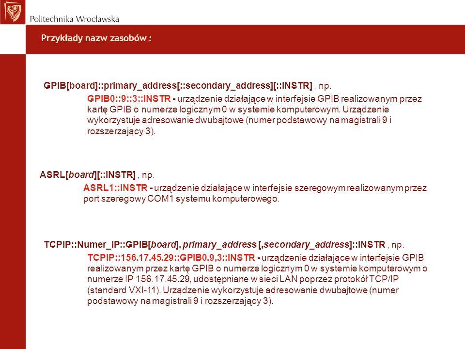Przykłady nazw zasobów :