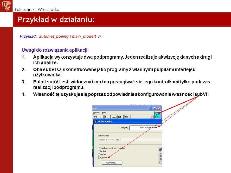 Przykład w działaniu: Uwagi do rozwiązania aplikacji: