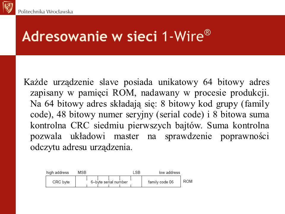 Adresowanie w sieci 1-Wire®