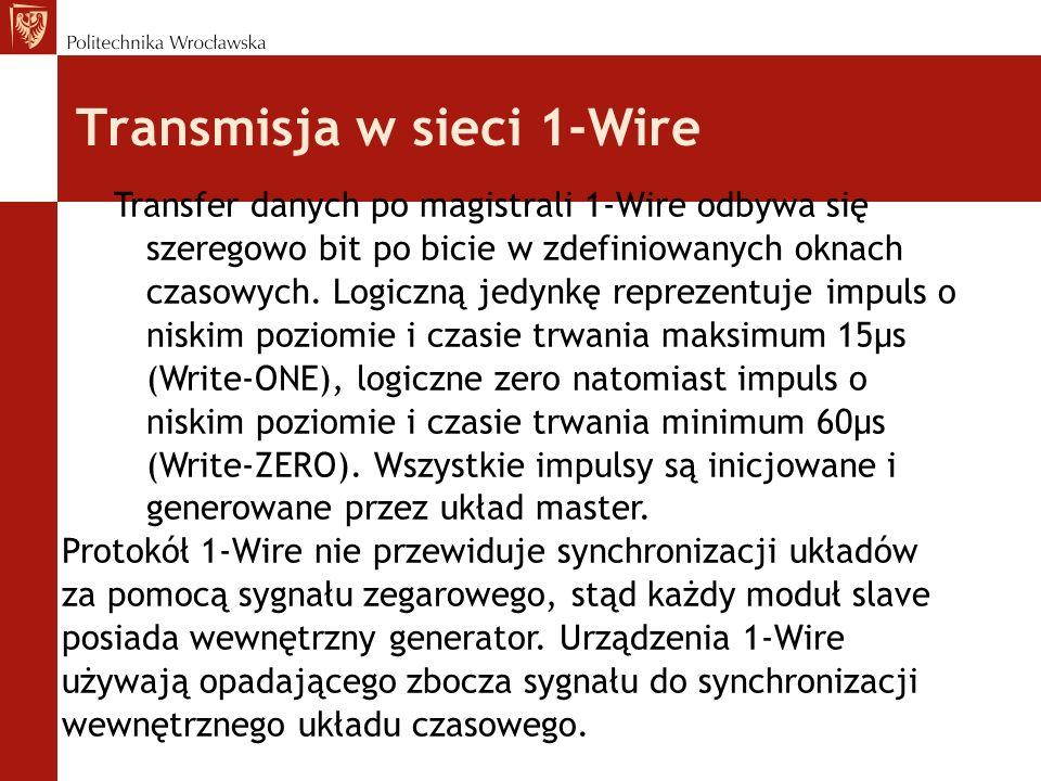 Transmisja w sieci 1-Wire