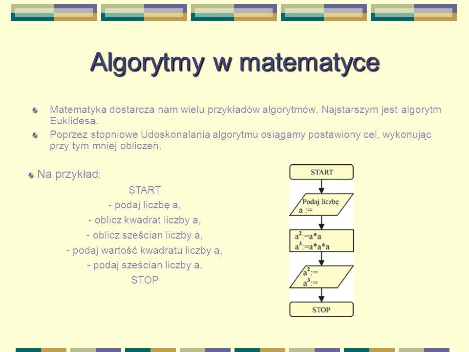 Algorytmy w matematyce