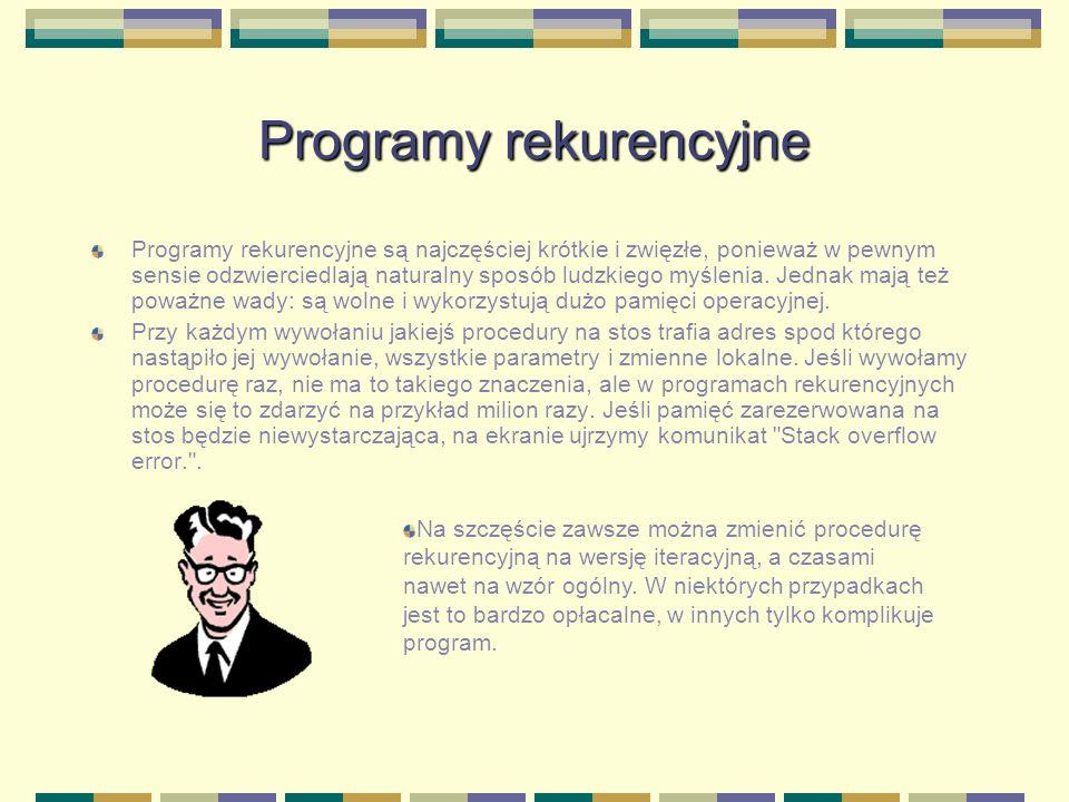 Programy rekurencyjne