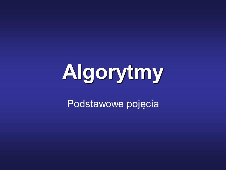 Algorytmy Podstawowe pojęcia