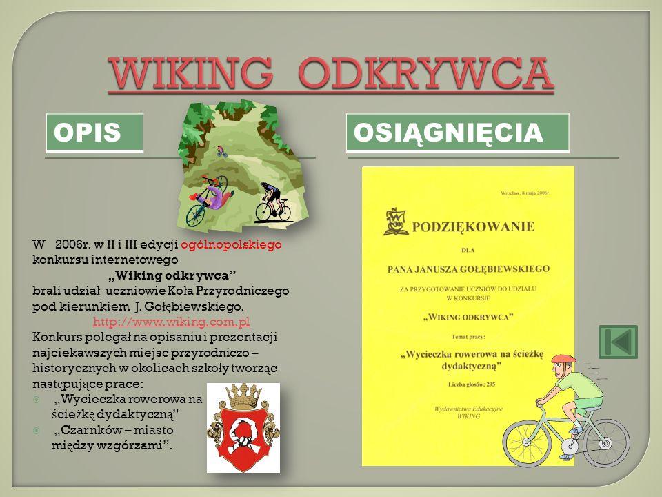 WIKING ODKRYWCA OPIS OSIĄGNIĘCIA OSIĄGNIĘCIA OPIS