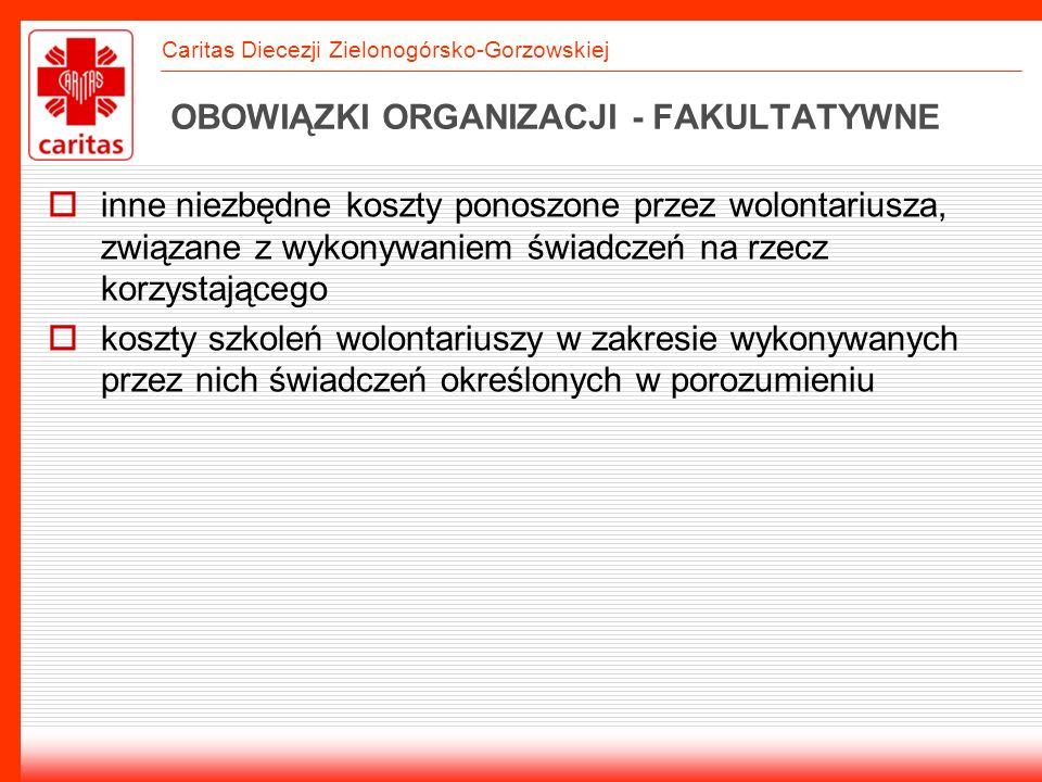 OBOWIĄZKI ORGANIZACJI - FAKULTATYWNE