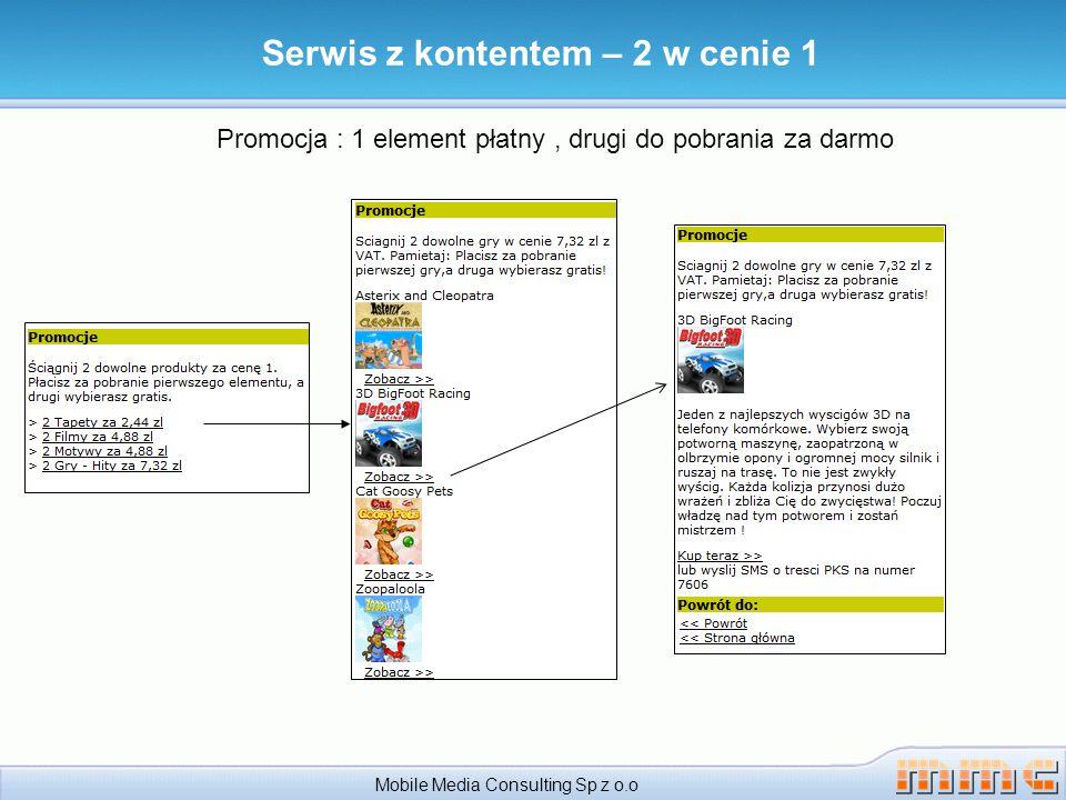 Serwis z kontentem – 2 w cenie 1