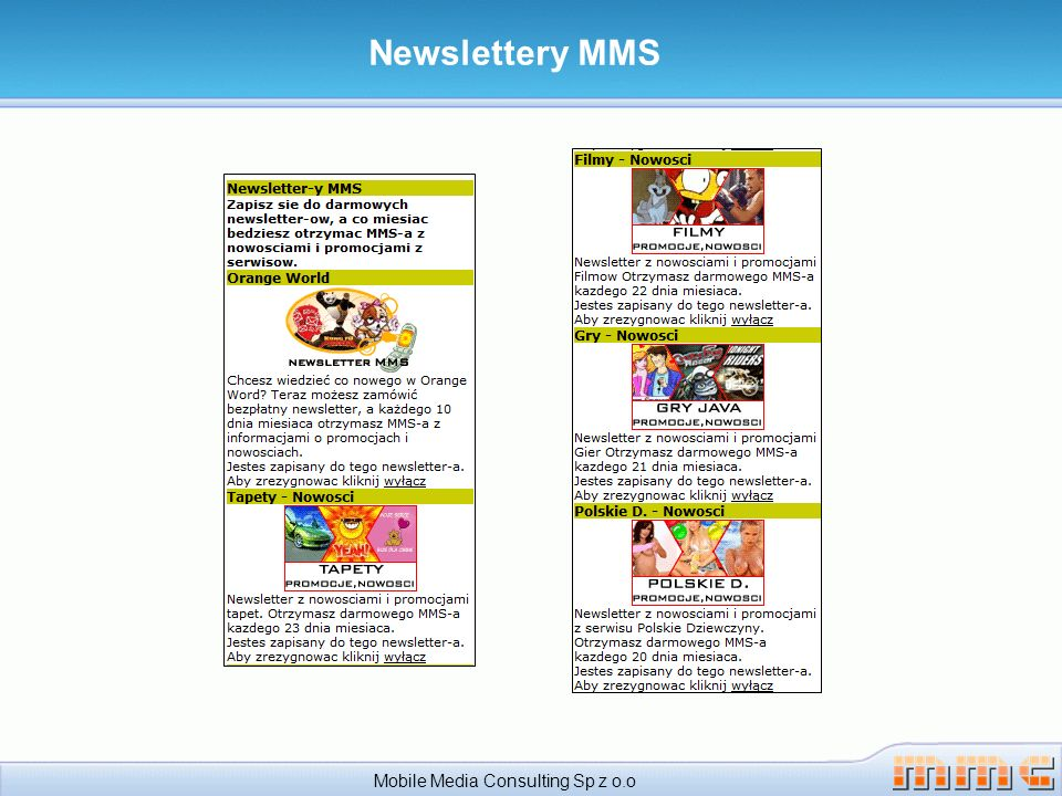 Newslettery MMS Mobile Media Consulting Sp z o.o