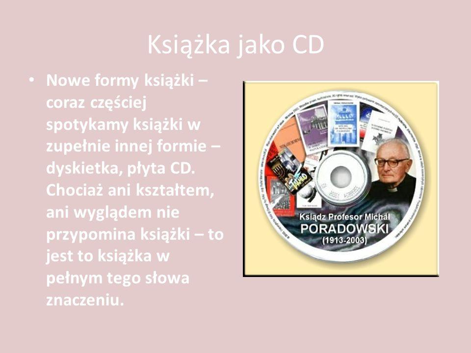 Książka jako CD