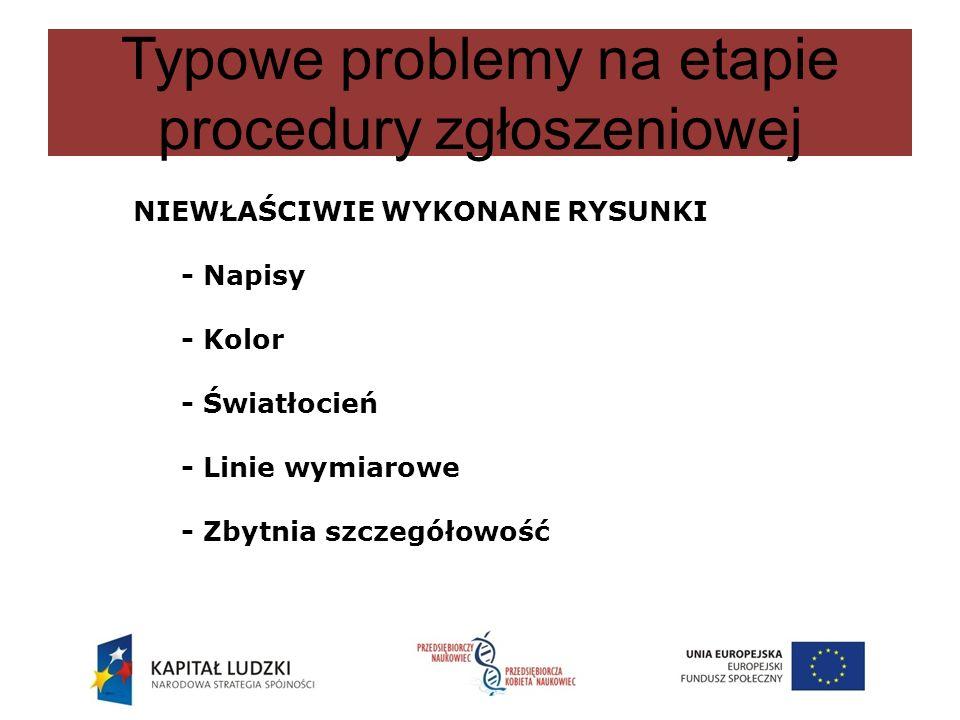 Typowe problemy na etapie procedury zgłoszeniowej