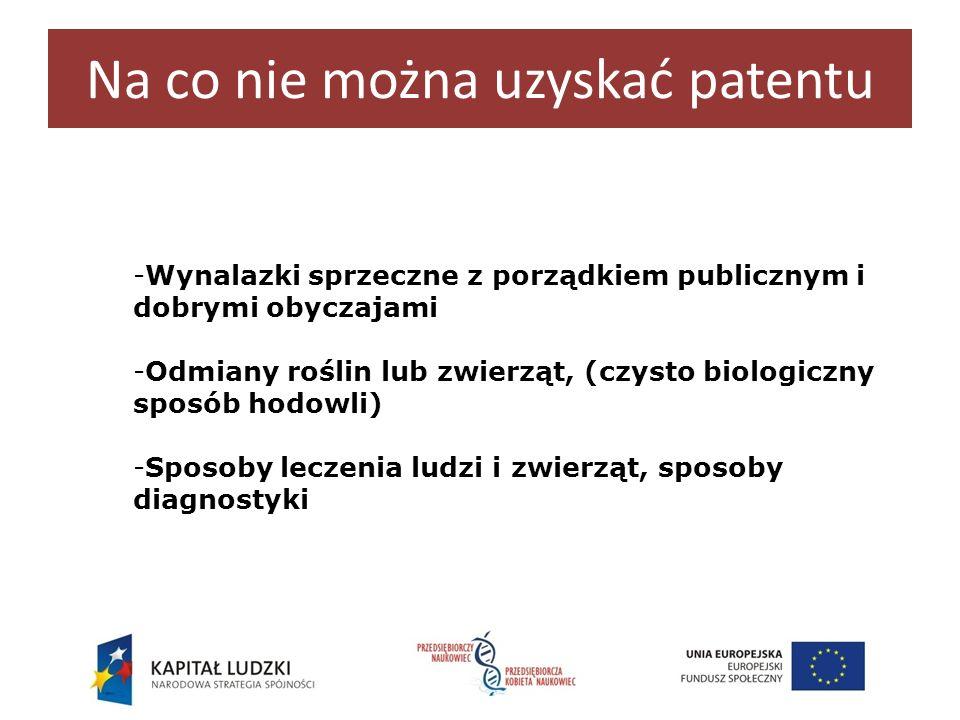 Na co nie można uzyskać patentu