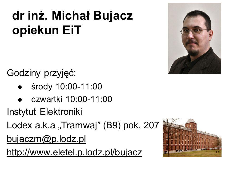 dr inż. Michał Bujacz opiekun EiT