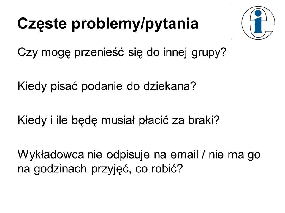 Częste problemy/pytania