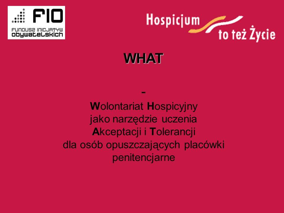 WHAT - Wolontariat Hospicyjny jako narzędzie uczenia Akceptacji i Tolerancji dla osób opuszczających placówki penitencjarne