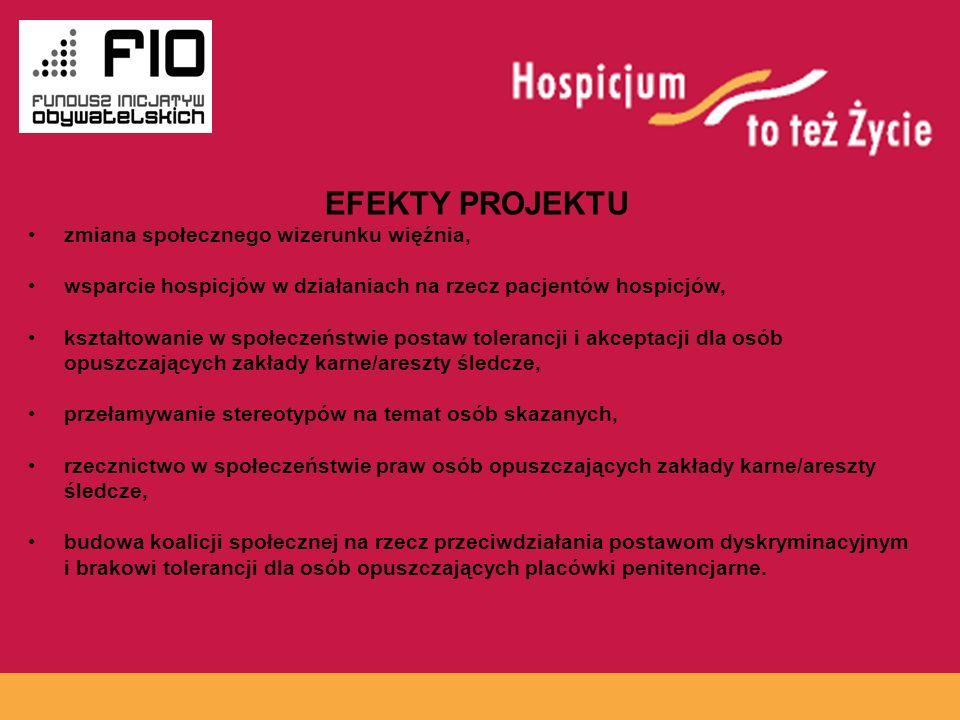 EFEKTY PROJEKTU www.hospicja.pl zmiana społecznego wizerunku więźnia,