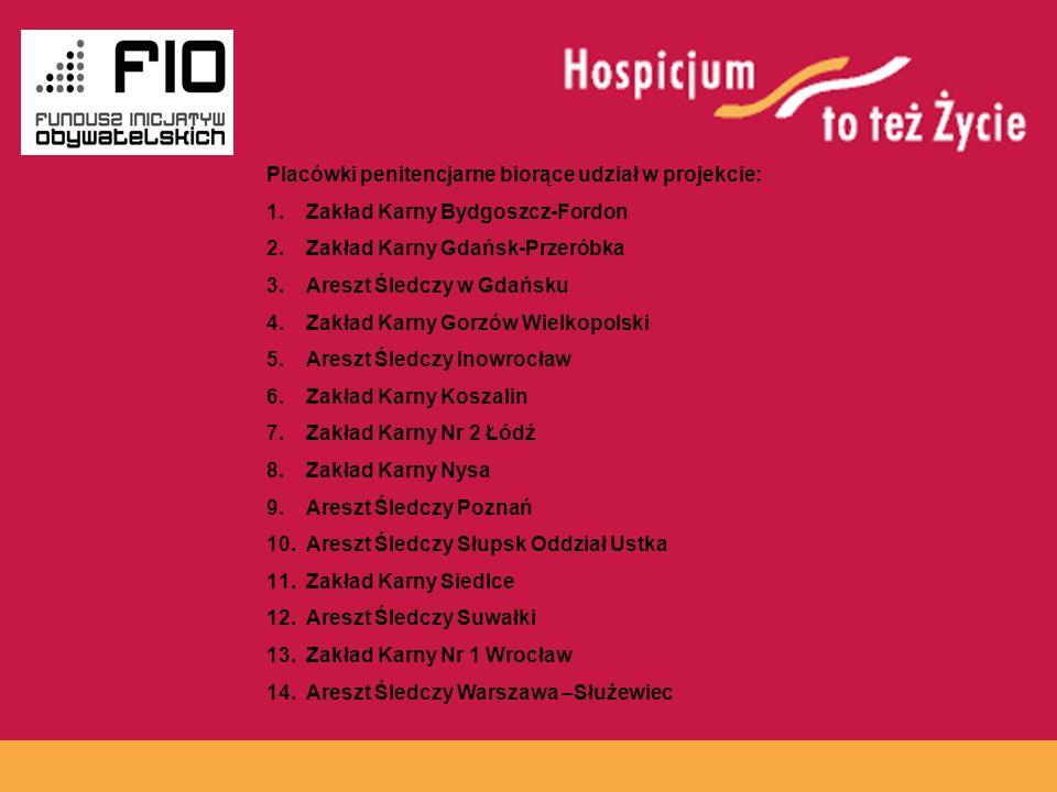www.hospicja.pl Placówki penitencjarne biorące udział w projekcie: