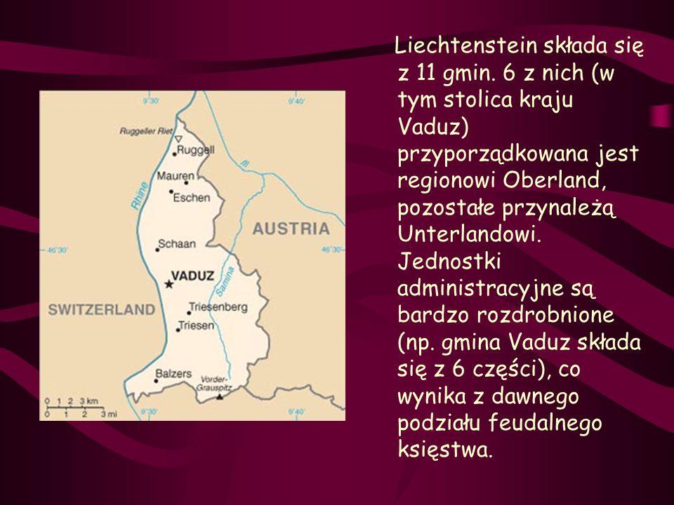 Liechtenstein składa się z 11 gmin