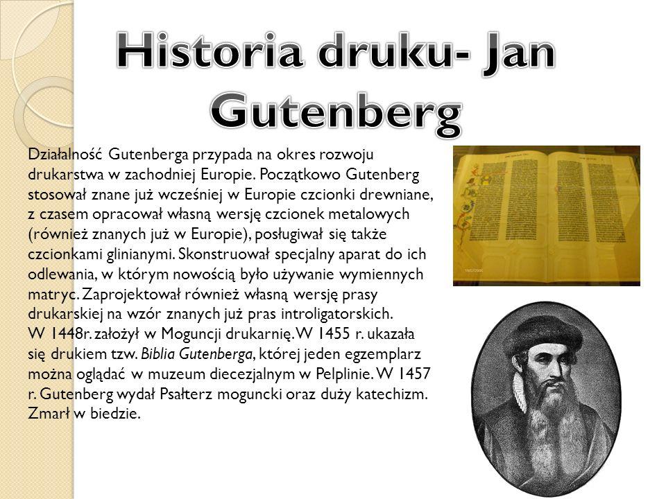 Historia druku- Jan Gutenberg