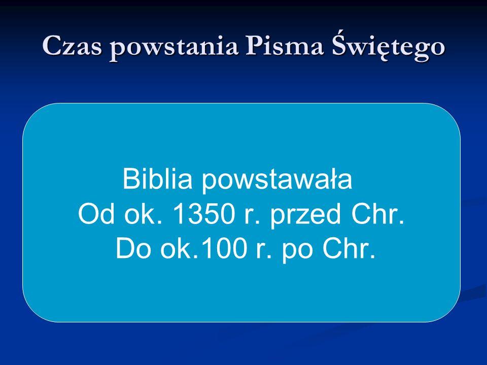 Czas powstania Pisma Świętego