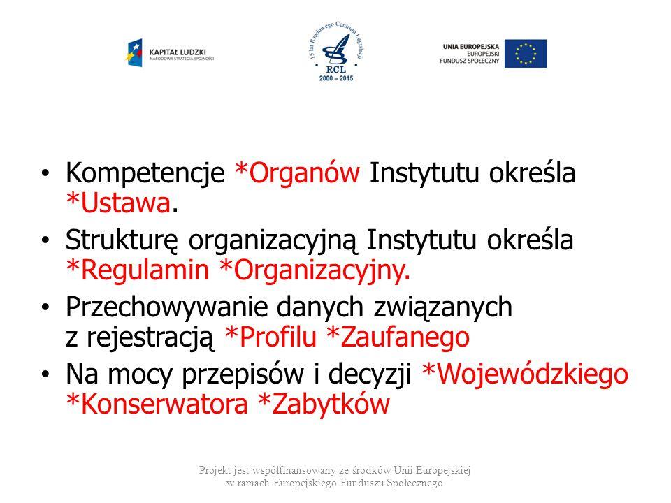 Kompetencje *Organów Instytutu określa *Ustawa.