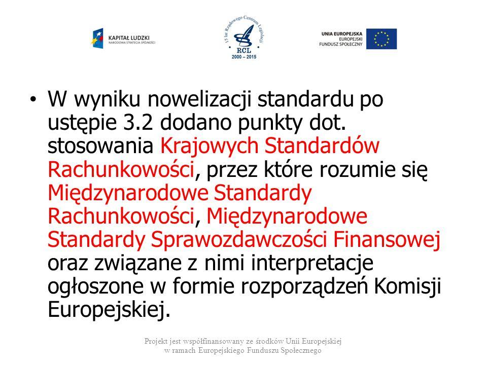 W wyniku nowelizacji standardu po ustępie 3. 2 dodano punkty dot