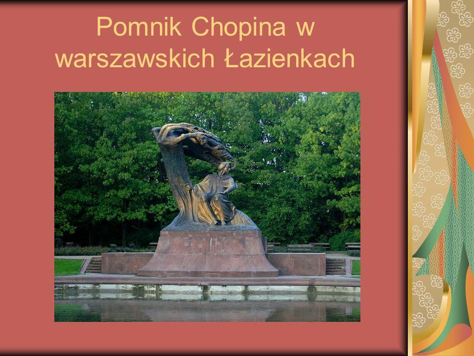 Pomnik Chopina w warszawskich Łazienkach