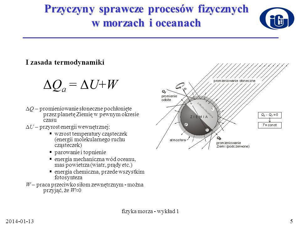 Przyczyny sprawcze procesów fizycznych w morzach i oceanach