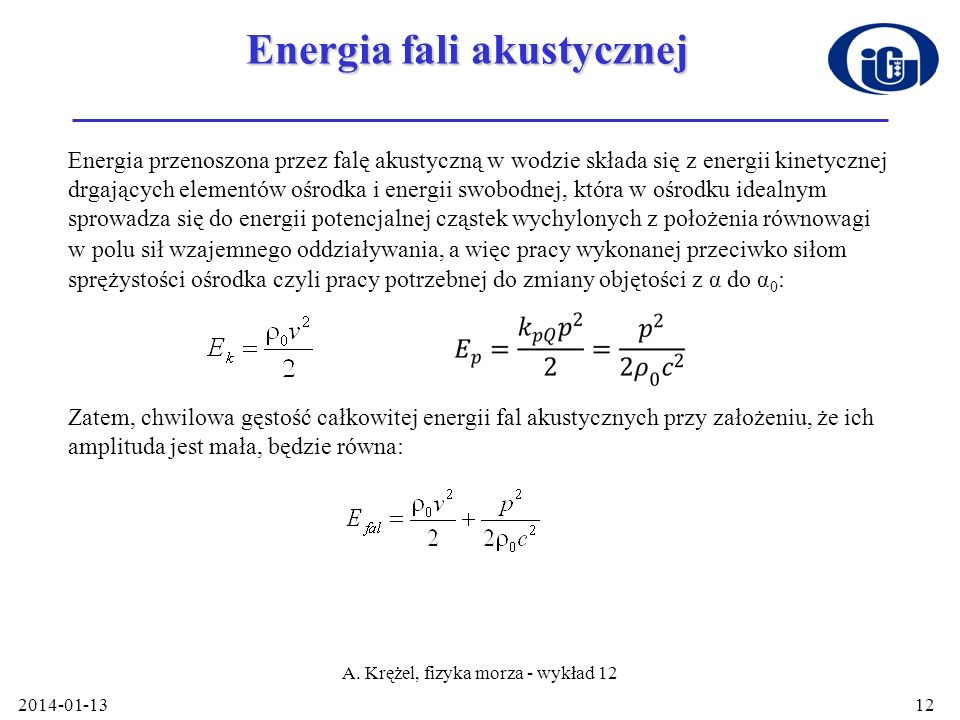 Energia fali akustycznej