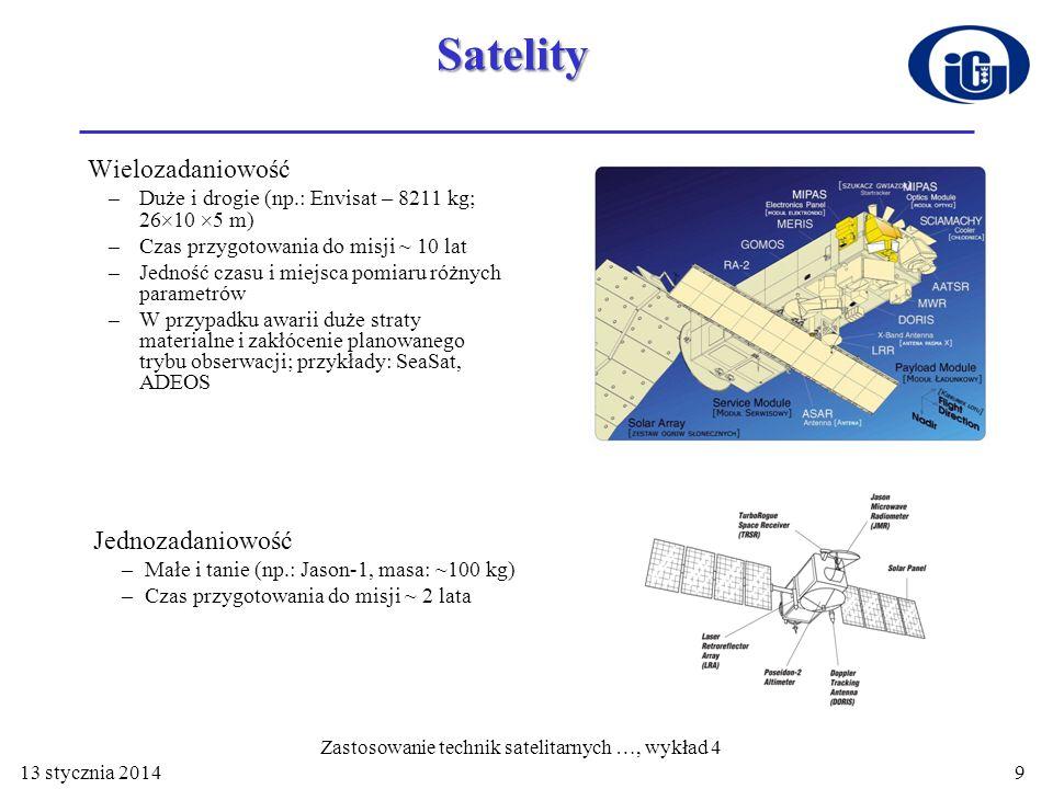 Zastosowanie technik satelitarnych …, wykład 4