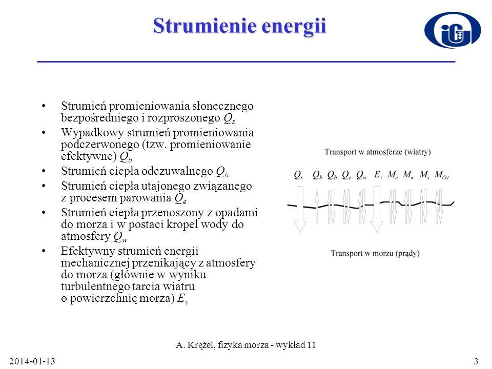 A. Krężel, fizyka morza - wykład 11
