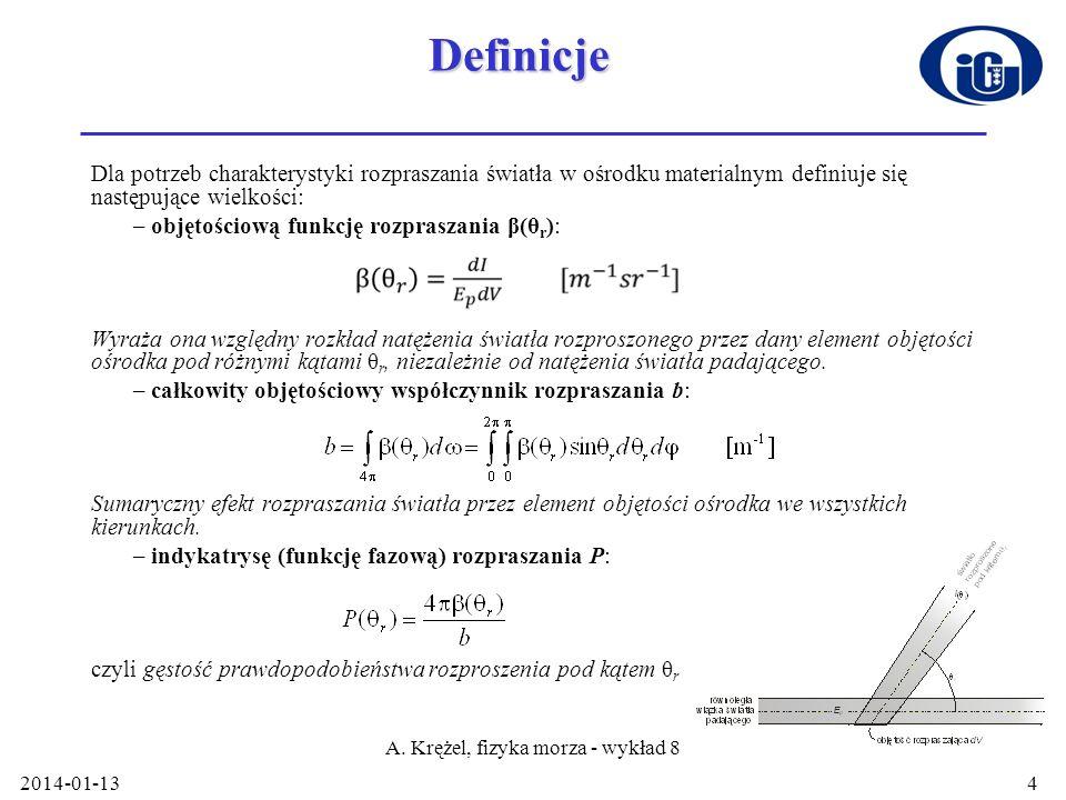 A. Krężel, fizyka morza - wykład 8