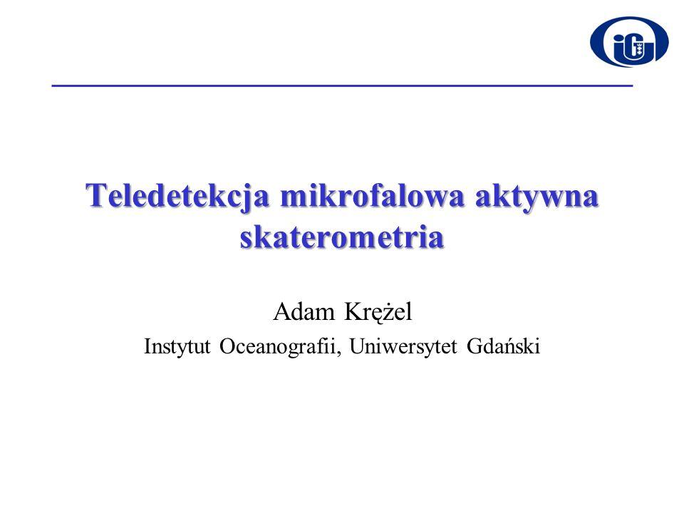 Teledetekcja mikrofalowa aktywna skaterometria