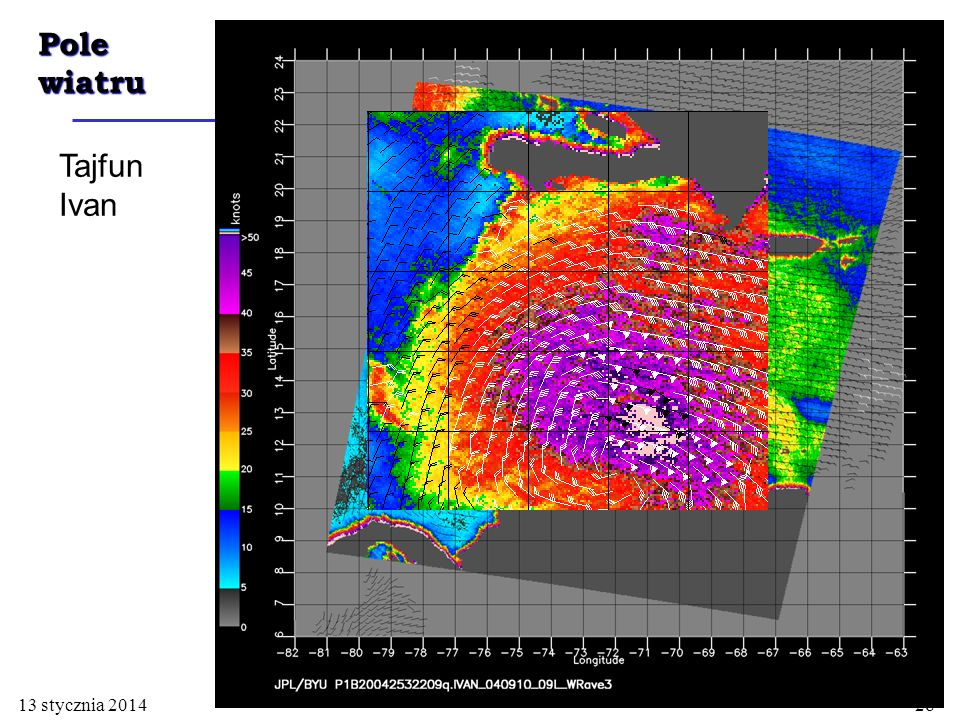 Pole wiatru Tajfun Ivan 26 marca 2017