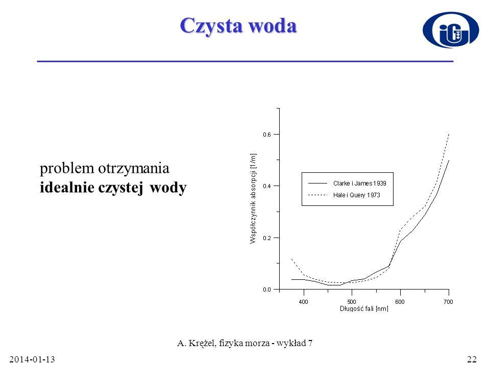 A. Krężel, fizyka morza - wykład 7