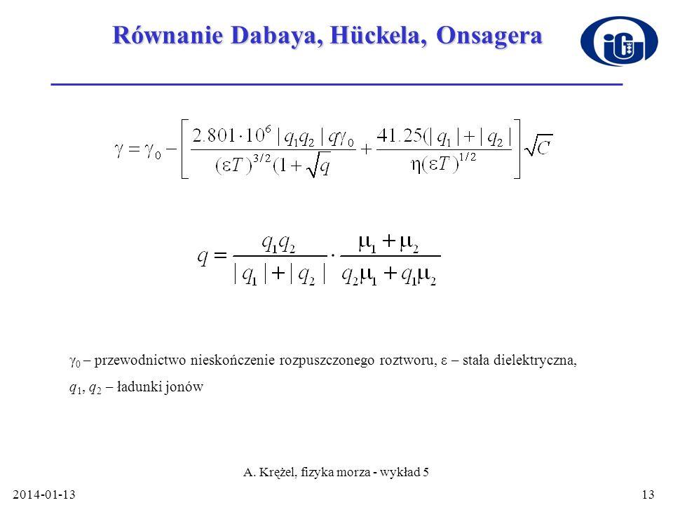 Równanie Dabaya, Hückela, Onsagera