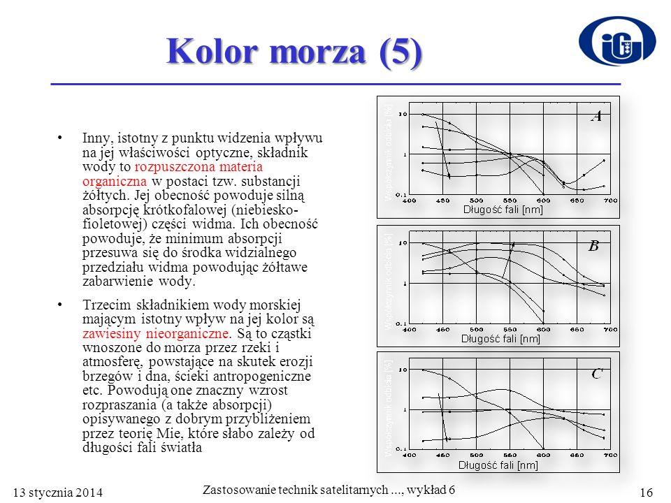 Zastosowanie technik satelitarnych ..., wykład 6