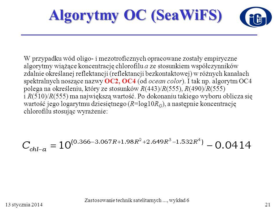 Algorytmy OC (SeaWiFS)
