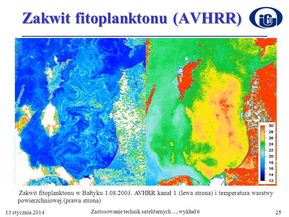 Zakwit fitoplanktonu (AVHRR)