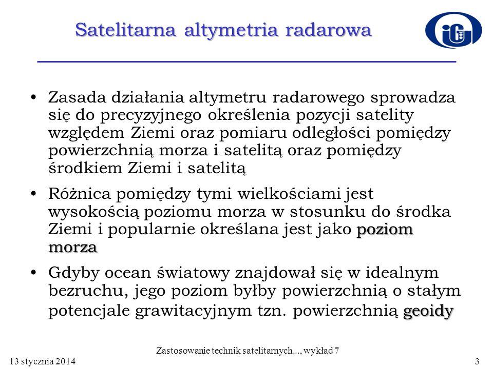 Satelitarna altymetria radarowa