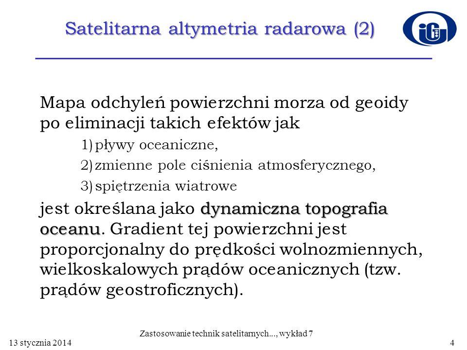 Satelitarna altymetria radarowa (2)