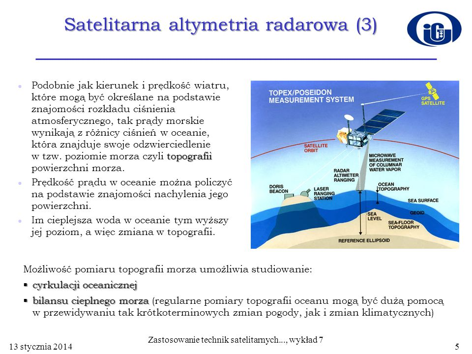Satelitarna altymetria radarowa (3)