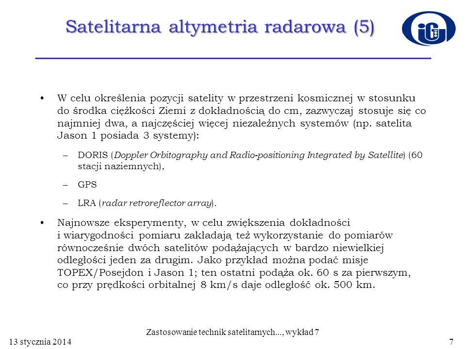 Satelitarna altymetria radarowa (5)