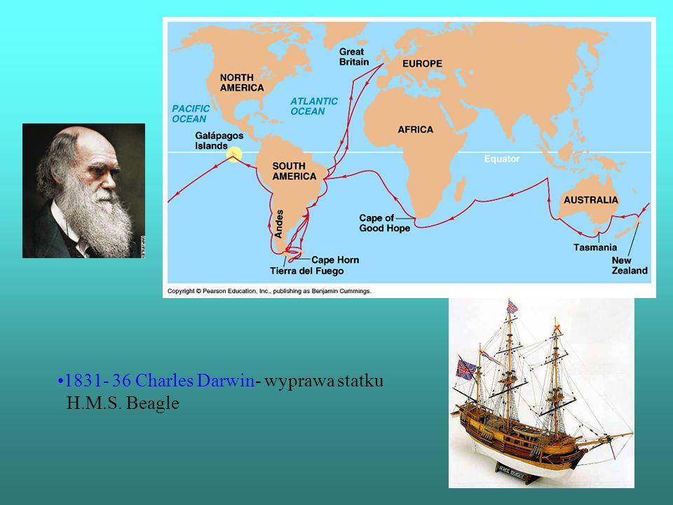 1831- 36 Charles Darwin- wyprawa statku