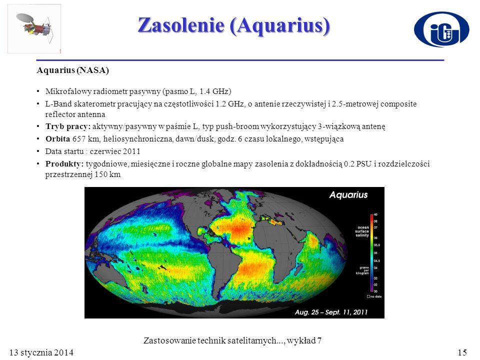 Zastosowanie technik satelitarnych..., wykład 7