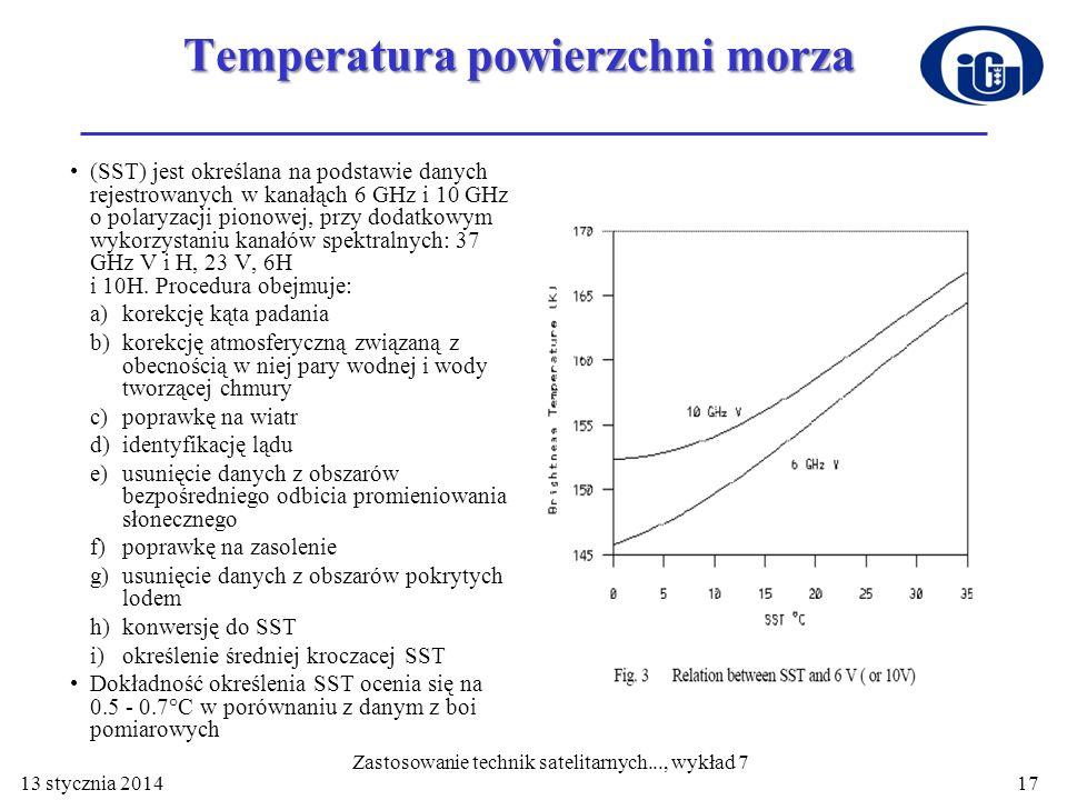 Temperatura powierzchni morza