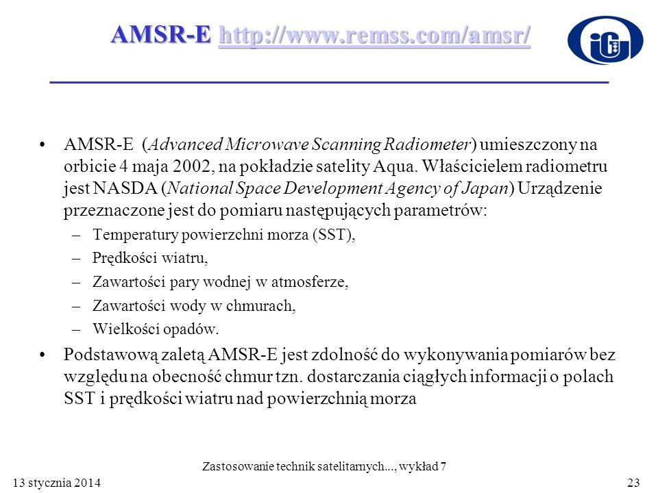 AMSR-E http://www.remss.com/amsr/