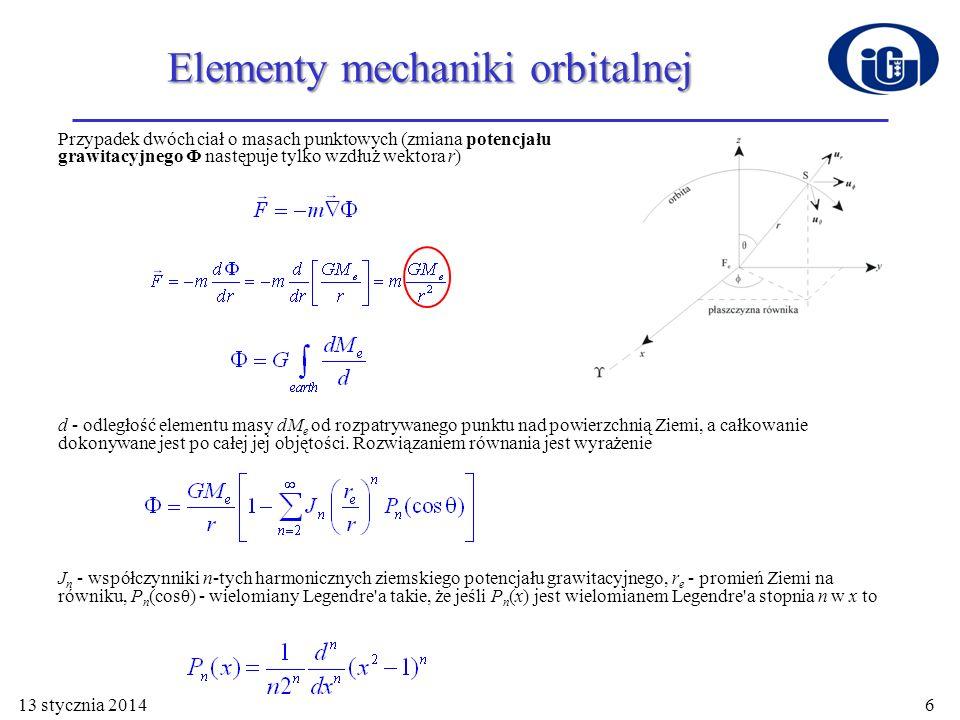 Elementy mechaniki orbitalnej