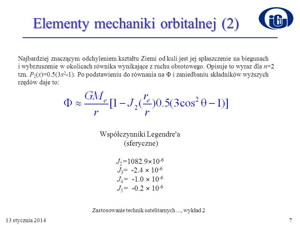 Elementy mechaniki orbitalnej (2)